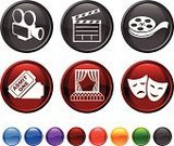 Theatrical Performance,Movie Theater,Movie,Ticket,Symbol,Film,Vector,Computer Icon,Catwalk - Stage,Stage Set,Entertainment,Mask,Film Reel,Icon Set,Movie Ticket,Industry,Film Industry,Camera Film,Sparse,Comedy Mask,Director,Camera - Photographic Equipment,Tragedy Mask,Humor,Nightlife,Set,Ilustration,Design,Blue,Red,Modern,Orange Color,Green Color,Black Color,Digitally Generated Image,Purple,Snack,Film Still