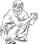 Artist,Paint,Vector,People,One Person,Men,Black And White,Cartoon,Ilustration,Clip Art,Drawing - Activity,Caricature,Sketch,Characters,Drawing - Art Product,Posture,Senior Men,Human Face,Paintings,Ink,Male,Portrait,Gray Hair,Anger,Image,Elegance,hand drawn,Human Hand,Computer Graphic,Style,Funky,Striped,Senior Adult