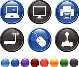 Computer Mouse,Joystick,Computer,Computer Monitor,Symbol,Vector,Laptop,Icon Set,Internet,Computer Icon,Technology,Blue,Black Color,Design,Wireless Technology,Computer Printer,Digitally Generated Image,Green Color,Orange Color,Ilustration,Router,Modern,Purple,Red