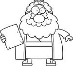 Beard,Bible,Judaism,Christianity,Moses,decalogue,Ten Commandments,Smiling,Religion,Number 10,Cartoon,Clip Art,One Person,People,Robe,stone tablet,Men,Ilustration,Law,Computer Graphic,Cheerful,Happiness,Vector