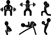 Symbol,Computer Icon,Endurance,Health Club,Icon Set,Simulator,Crouching,Squatter,Isolated,Action,Gym,Journalism,Silhouette,Black Color,Effort,Human Muscle,Bench-press,Weightlifting,Body Building,Dumbbell,Ilustration,Pole Vault Bar,Organization,Bench,Weights,Weight,Strength,Energy,Sport,Intension,Sign,Vector,Barbell,Pushing,Progress,Muscular Build,Power,Instructor,Skill,Weight Training,Shape,Motion,Equipment,Agility,Exercising