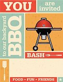 Party - Social Event,Barbecue Grill,Front or Back Yard,Invitation,Vector,Backgrounds,Barbecue,Grid,Fork,Kitchen Utensil,Fun,Orange Color,Retro Revival,Red,Grunge,Textured Effect,Old,Star Shape,Blue,Food,Spatula,Friendship,Colors,Wallpaper Pattern,Abstract,Pattern,Computer Graphic,Design,template,Design Element,Coal