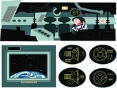 Spaceship,Vehicle Interior,Space Travel Vehicle,Astronaut,Space,Plan,Visual Screen,Backdrop,Backgrounds,Transportation,Vector Backgrounds,Medicine And Science,Illustrations And Vector Art,Science Backgrounds