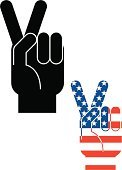 Victory,Peace Sign,Human Hand,Symbol,Sign,American Flag,Hand Sign,Success,Obscene Gesture,USA,Religious Icon,Gesturing,Flag,Illustrations And Vector Art,Vector Icons,Concepts And Ideas,Allegory Painting,Concepts,V For Victory