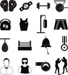 Connection,Exercising,Competition,Referee,Shape,Cute,Insignia,Men,Bag,Vector,Punching,Ilustration,Symbol,Sport,Boxing