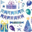 Confetti,Hat,Flag,Anniversary,Surprise,Box - Container,Painted Image,Art,Holiday,Collection,Greeting,Cheerful,Fun,Child,Blue,Pencil Drawing,Sketch,Purple,Old-fashioned,Wreath,Decoration,Part Of,Computer Icon,Celebration,Computer Graphic,Set,Watercolor Painting,Ribbon,Event,Star Shape,Candle,Multi Colored,Happiness,Vector,Retro Revival,Gift,Balloon,hand drawn,Cartoon,Symbol,Garland,Ilustration,Birthday,Yellow,Watercolor Paints,1940-1980 Retro-Styled Imagery,Drawing - Art Product,Paint,Backgrounds,Design,Single Object,Party - Social Event