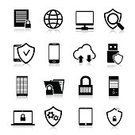 Symbol,Shielding,Computer Icon,Mistake,Computer Equipment,Telephone,Downloading,File,Laptop,Mobile Phone,Data,Document,Sign,Ilustration,Business,Black Color,Padlock,Icon Set,Design,Internet,Connection,Collection,Technology,Protection,Lock,Network Server,Cyborg,Cloudscape,Computer Bug,Accessibility,Firewall,Security,Safe,Computer,Web Page,Isolated,Safety,Network Security,Computer Hacker,Vector,user,Set,Design Element,E-Mail