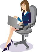 Businesswoman,Office Interior,Responsibility,Leadership,Working,Adults,Computers,Technology,Typing,Business,Lifestyle,Business People
