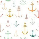 Anchor,Backgrounds,Seamless,Sea,Ilustration,Decoration,Style,Simplicity,Repetition,Navy Blue,Sailor,Pattern,Multi Colored,Blue,Vector,Nautical Vessel,Wallpaper Pattern,Abstract,Computer Graphic,Design Element,White,Sailing,Symbol,Color Image,Ornate