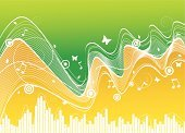 Music,Summer,Backgrounds,Musical Note,Green Color,Beautiful,Flower,Collection,Abstract,Pattern,Paint,Art,Flores,Design,Sound,Butterfly - Insect,Creativity,Grunge,Wave Pattern,Concepts,Curled Up,Freshness,Striped,Curve,Ornate,Leaf,Play,Ilustration,Oscillation,Branch,Vector,Plant,Orange Color,Style,Wallpaper Pattern,Design Element,Decoration,Modern,Composition,White
