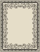 Frame,Certificate,Victorian Style,Floral Pattern,Engraved Image,Art Deco,Art Nouveau,Arabic Style,filigree,Ornate,Vector,Award,Parchment,Acanthus Plant,Decoration,Leaf,Retro Revival,Antique,Scroll Shape,Growth,Old-fashioned,Engraving,Rectangle,Gothic Style,Foliate Pattern,Swirl,Design Element,swirly,Blank,Intertwined,Copy Space,Spiral,Squiggle,Sepia Toned,Beautiful,Illustrations And Vector Art,Empty,Vector Florals,Vector Backgrounds,Vector Ornaments