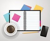 Isolated,Blank,Coffee - Drink,White,Paper,Label,Palmtop,Working,Backgrounds,Data,Book