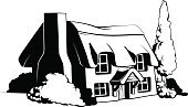Straw,Farm,Beauty,Sketch,Idyllic,Farmhouse,Vector,Rural Scene,Rustic,Animated Cartoon,Cartoon,Nature,UK,Drawing - Art Product,Old,Building Exterior,Black Color,Cottage,Clip Art,Window,Architecture,Computer Graphic,The Past,Art Product,Building - Activity,White,Beautiful,Village,Backgrounds,Europe,Front or Back Yard,Residential Structure,Roof,Ilustration,England,English Culture,Thatched Roof,Retro Revival,Outdoors,Design,Old-fashioned,Image,Cultures,Ancient,Chocolate Candy,History,Wood - Material,Art,Door,House