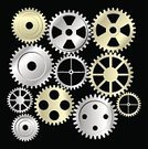 Vector,Collection,Industry,Factory,Gear,Technology,Machine Part,Equipment,Turning,Steel,Set