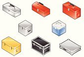 Toolbox,Isometric,Box - Container,Metal,Cooler,Suitcase,Vector,Jewelry Box,Briefcase,Red,Luggage,Icon Set,Interface Icons,Sheet Metal,Silver - Metal,Gift Box,Aluminum,Yellow,Chrome,Gold,Iron - Metal,Illustrations And Vector Art,Isolated Objects,Brushed Metal,Vector Icons,Objects/Equipment,Industrial Objects/Equipment