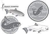Insignia,Incentive,Grouper,Jumping,Freshwater,Nature,Mountain,Walleye,Predatory Fish,Animal,Sushi,Competition,Carp,Common Carp,Water,Bass,Fly-fishing,Fisherman,Sign,Pike,Salmon,Symbol,Tuna,River,Backgrounds,Redfish,Trout,Black Color,Isolated,Seafood,Fishing,Rainbow Trout,Fish,Lake
