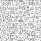 Satchel - Bag,School Bus,Ruler,Research,Collection,Outline,Business,Pattern,Icon Set,Expertise,Chemistry,Built Structure,Flat,School,Thin,Graduation,Computer,Set,School Building,Design,Study,Simplicity,Part Of,Single Line,Education,University,Science,Learning,Book,Vector,Symbol,Bell