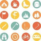 Hiking,Symbol,Set,Collection,Vector,Backpack,Sign,Directional Sign,Pointer Stick,Road Sign,Motor Home,Flag,Compass,Knife,Kitchen Knife,Camping,Travel,Backpacker,Matchstick,Climbing,Simplicity,Bonfire,Vacations,Drawing - Activity,Tree,Boot,Variation,Silhouette,Series,Camping Tent,Tourism,Journey,Recreational Pursuit,Sport,Design,Summer Camp,Fire - Natural Phenomenon,Nature,Fishing,Table Knife,Walking,Binoculars,Infographic,Bicycle,Flat,Forest