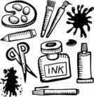Paint Splat,Group of Objects,Computer Icon,Icon Set,Ink Splat,Craft Product,Stained,Pen,Scissors,Palette,Doodle,Drawing - Art Product,Paintbrush,Ink,Pencil,splats,Paint,Craft,Ilustration,Computer Graphic,Sketch,Art,Spray