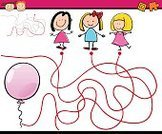 Child,Balloon,Little Girls,Ilustration,Thoroughfare,Track,Design,Preschool,Humor,Single Line,Diagram,Drawing - Art Product,Mystery,Application Software,teaser,Vector,Simplicity,Cheerful,Shape,Characters,Preliminary,Leisure Games,Brain Teaser,Maze,Puzzle,Confusion,Education,Discovery,Street,Fun,Footpath,Outline,Cartoon,Direction,Playing,Preparation,Order,template,Learning,Happiness,Solution,Computer Graphic,Searching,Preschooler