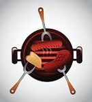 Meat,Beef,Grilled,Vector,Restaurant,Barbecue,Barbecue Grill,Invitation,Chef,Picnic,Lunch,Computer Graphic,Symbol,Food,Summer,Cooking,Party - Social Event,Heat - Temperature,Meal,Sign,Label,Menu,Design,Gourmet,Roasted,Ilustration,Digitally Generated Image