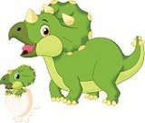 Mother,Lizard,Ilustration,Parent,Ancient,Triceratops,Reptile,Animal Egg,dino,Cheerful,Happiness,Vector,Monster,Large,Danger,Cute,Animals In The Wild,Wildlife,Jurassic,Hatching,Animal,Mascot,Newborn Animal,Prehistoric Era,Carnivore,Young Animal,New Life,Fun,Green Color,Humor,Dinosaur,Cartoon,Characters,Smiling