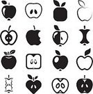 Computer Icon,Symbol,Apple - Fruit,Food,Fruit,Sweet Food,Healthy Eating,Gourmet,Apple Core,Button,Ilustration,Collection,Computer Graphic,Monochrome,Dieting,Freshness,Refreshment,Cross Section,Seed,Sign,Vector,Set,Biting,Nature,Lifestyles,Leaf,Vegetable Garden,Supermarket,Juice,Organic