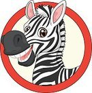 Cute,Illustration,Vector,Mammal,Looking At Camera,Animals In The Wild,Posing,Characters,Cheerful,Animal,Zebra,Striped,Mascot,Cartoon,Happiness,Smiling,Wildlife