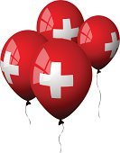 Switzerland,Balloon,Swiss Flag,Flag,Party - Social Event,Red,Shiny,White,Helium Balloon,Holidays And Celebrations,Isolated Objects,Window,Celebration,Illustrations And Vector Art
