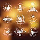 Computer Graphics,Food,Sign,Freshness,Meat,Agriculture,Nature,Animal,Label,Farm,Bird,Restaurant,Computer Graphic,Menu,Badge,Illustration,Organic,No People,Vector,Merchandise,Collection,Insignia,Premium - Film Title,2015,Quality