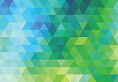 Computer Graphics,Composition,Digitally Generated Image,Mosaic,Colors,Blue,Green Color,Yellow,Multi Colored,Two-dimensional Shape,Pattern,Grid,Modern,Turquoise Colored,Backgrounds,Computer Graphic,Triangle Shape,Color Image,Abstract,Illustration,Textured,No People,Vector,Geometric Shape,Backdrop,Polygonal,2015,Low-Poly-Modelling