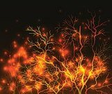 Design,Business,Nature,Design,Orange Color,Tree,Fire - Natural Phenomenon,Sky,Tree Trunk,Branch,Light - Natural Phenomenon,Star - Space,Landscape,Night,Silhouette,Forest,Backgrounds,Poster,Gold Colored,Abstract,Illustration,No People,Vector,2015