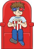 Little Boys,Popcorn,Looking,Child,Relaxation,Eyeglasses,Vector,Sitting,Caucasian Ethnicity,Teenager,Chair,Seat,Cartoon,Isolated,Recreational Pursuit,Leisure Activity,Ilustration,Indoors,White Background,motion picture,Drink,Snack,Film Industry,Movie,Watching,Entertainment,Spectator,Three Dimensional,Movie Theater,People