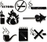 Computer Graphics,Series,Sign,Cigarette,Circle,Flame,Backgrounds,Computer Graphic,Menu,Cigar,Cigarette Lighter,Bundle,Illustration,Template,Part of a Series,No People,Vector,Collection,2015,Mistake