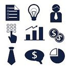 Industry,Finance,Currency,Human Brain,Light Bulb,Design,Computer Icon,Set,Ideas,Concepts,Business