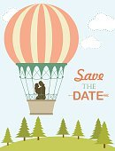 Computer Graphics,Heat - Temperature,Romance,Balloon,Wedding,Old-fashioned,Flower,Wind,Cards,Beauty,Computer Graphic,Greeting Card,Honeymoon,White River,Illustration,Inviting,Vector,Single Flower,Retro Styled,Holiday - Event,Beautiful People,Invitation,2015,Save The Date