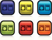 Dryer,Appliance,Laundry,Symbol,Laundromat,Washing Machine,Square Shape,Green Color,Interface Icons,Shiny,Vector,Orange Color,Purple,Red,Yellow,Blue,Black Color,Illustrations And Vector Art,Concepts And Ideas,Design Element,Design,Isolated Objects