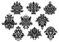 Pattern,Victorian Style,Textile,Silk,Floral Pattern,Flower,Old-fashioned,Backgrounds,Swirl,Arabesque Position,Retro Revival,Symbol,The Past,Computer Graphic,Shape,Brocade,filigree,Abstract,Fabric Swatch,Arabic Style,Backdrop,Design,Ornate,Royalty,Vector,Illustration,Simplicity,Elegance,Embellishment,Decoration,Scroll Shape,Flourish,Classic,Decor,Tile,Part Of,Design Element,Style