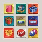 Icon Set,Retail,Shopping,Store,Gift,Symbol,Computer Icon,Cash Register,internet icons,Calculator,Packaging,Sale,Marketing,Buying,Service,Price Tag,Interface Icons,Illustration,Open Sign,Searching,Shopping Bag,Vector,Box - Container,Award,Colors