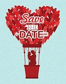 Heat - Temperature,Engagement,Married,Wedding,Old-fashioned,Flower,Wind,Greeting Card,Honeymoon,Illustration,Inviting,Vector,Retro Styled,Invitation,2015,Save The Date