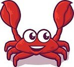 Crab,Prepared Crab,Cute,Individuality,Badge,Red Crab,Identity,Seafood,Sea,Hard-shell Crab,Claw,Crayfish,Red,Beach,Crustacean,Humor,Food,Animal,Mollusk,Vector,Lobster,Isolated,Computer Graphic,Design Element,Insignia,Cartoon,Illustration,Aquarium,Branding,Characters,Mascot,Caricature,Crawling,Freshness,Sea Life,Arthropod,Boiled,Computer Icon,Animal Shell