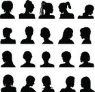 People,Black And White,Human Body Part,Human Head,Human Face,Profile View,Black Color,Silhouette,Shoulder,Adult,Cut Out,Outline,Illustration,Painted Image,Females,Women,Vector,Unrecognizable Person,Produced,2015,Silhouette,Icon Set,Human Joint,Avatar