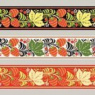 Abstract,Russian Culture,Ornate,Illustration,Backgrounds,Russia,Branch,Decor,Folk Music,Cultures,Yellow,Pattern,khokhloma,Fruit,Leaf,Decoration,Red,hohloma,Vector,Curve