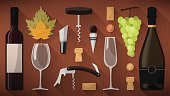 Wineglass,Red,Group of Objects,Cultures,Directly Above,Luxury,winemaker,Banner,Glass - Material,Bottle,Set,Vector,Winemaking,Season,Leaf,Tasting,Wine Bottle,Grape,Italian Culture,Corkscrew,Rustic,Flute,Red Wine,Autumn,Wood - Material,Table,On Top Of,Equipment,Winetasting,Drink,Wine,Alcohol,Alcohol,Sommelier,Cork,Fruit,Toolbox,Label,French Culture,Cap,enologist,White Wine,Old-fashioned,Winery