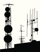 Communications Tower,Satellite Dish,Antenna - Aerial,Communication,Silhouette,Wireless Technology,Microwave Tower,Bandwidth,Global Communications,Equipment,Isolated,Vector,Shape,Sketch,Ilustration,Outline,Computer Graphic,Isolated On White,Cut Out,Receiver,Tracing,Modern,Focus on Shadow,Electrical Device,Digitally Generated Image,Exploration,Black Color