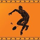 Racket Sport,Playing,Silhouette,The Human Body,Motion,Athlete,Competition,Badminton,Classical Greek,Professional Sport,Jumping,Design,Shuttlecock,Orange Color,Sports Background,Shape,Exercising,hand drawn,Ancient Greece,Indoors,Competitive Sport,Team Sport,Sports Training,Athlete Training,Sport,Illustration,The Past,Backgrounds,Art,Symbol,Decoration,Vector,Activity