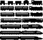 Train,Silhouette,Railroad Track,Railroad Car,Vector,Bullet Train,Steam Train,Transportation,Back Lit,Ilustration,Passenger Train,Black Color,Isolated,Shadow,Public Transportation,Isolated On White,Monochrome,Focus on Shadow,Slow Train,fast train,Coal Train