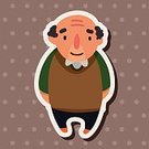 People,Smiling,Grandfather,Family,Small,Child,Adult,Cute,Illustration,Men,Boys,Vector,2015,Man Icon,Family Adult