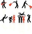 Stick Figure,Party - Social Event,Dancing,Musical Band,Music,Symbol,Rock and Roll,Computer Icon,Microphone,Popular Music Concert,Guitarist,Singing,Icon Set,Music Style,Oldies Rock and Roll,Modern Rock,Vector,Electric Guitar,Stage Set,Female,Insignia,Psychedelic Music,Set,Male,Sparse,Elegance,Swinging,Simplicity,slamming,Sound,Reflection,Boom Microphone,Hitting