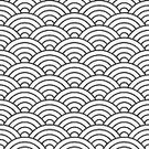 Wave,Vector,Wave Pattern,Old-fashioned,Retro Revival,Spotted,Geometric Shape,Square,Black Color,Circle,Illustration,Backgrounds,Pattern,Seamless,Fish,fish pattern,Scale,White